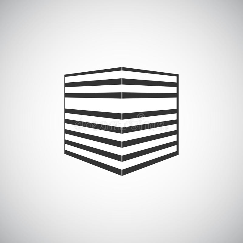 Abstract Architecture Building Silhouette Logo Design