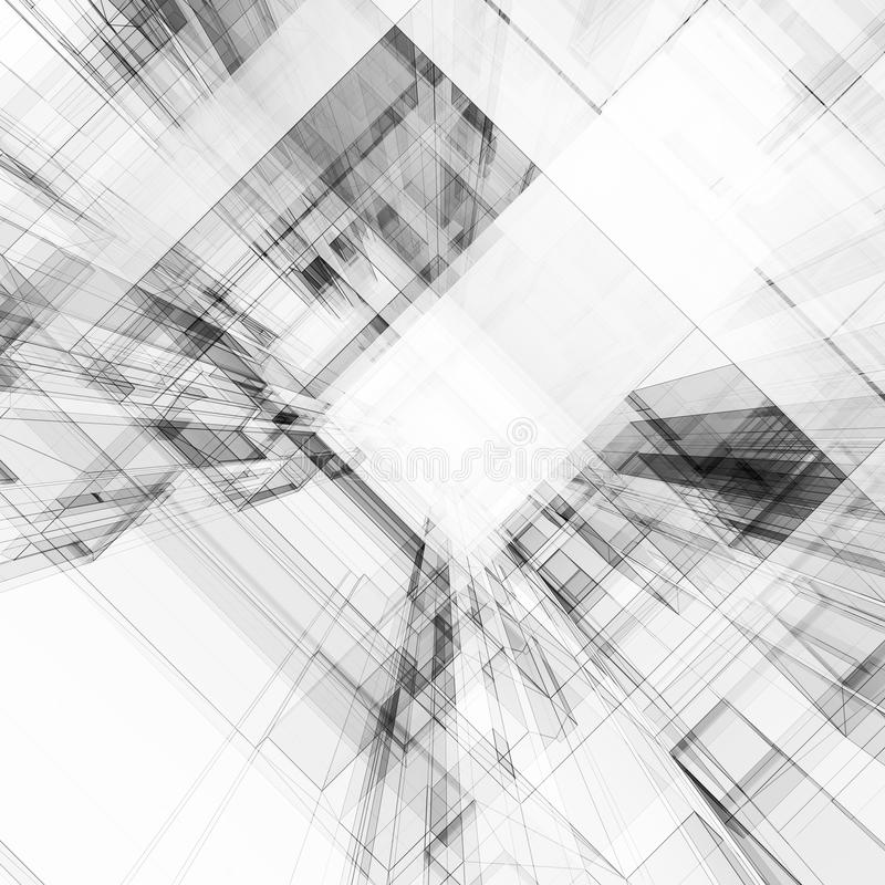 Abstract architecture 3d rendering. Abstract architecture. Concept view background 3D rendering royalty free stock images