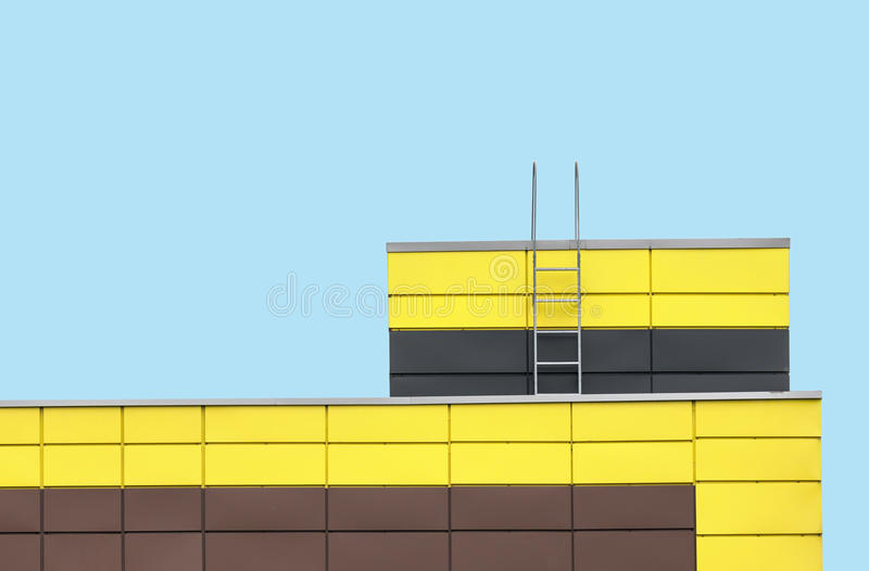 Abstract architecture on cyan color background royalty free stock photography