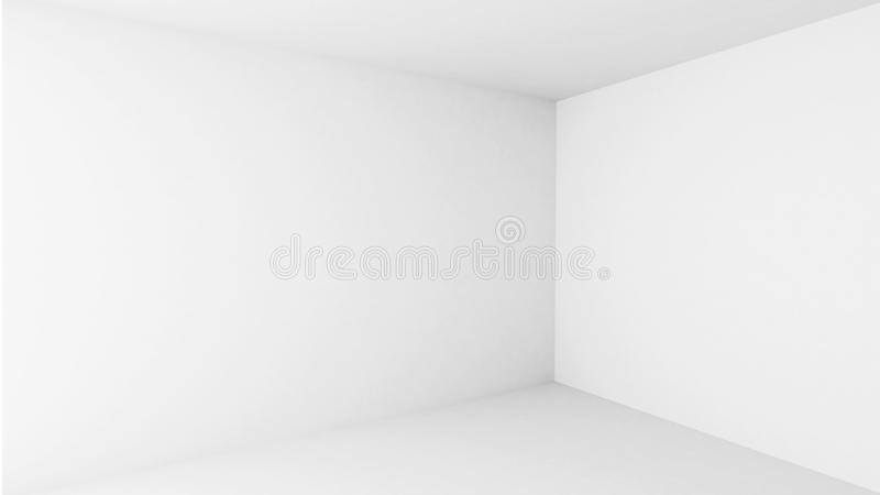 Abstract architecture. Empty white room interior royalty free illustration