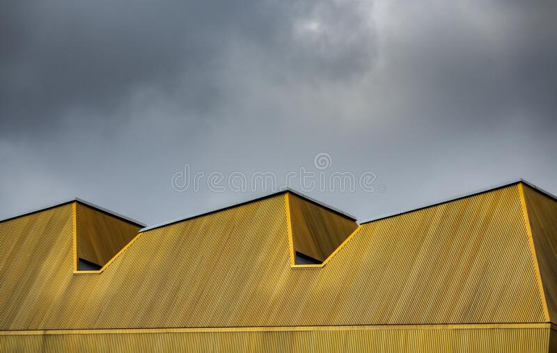 Abstract Yellow Urban Architecture stock images