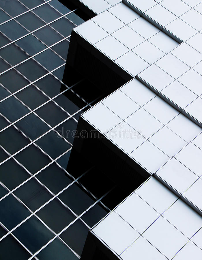 Abstract architecture of a modern building stock photo