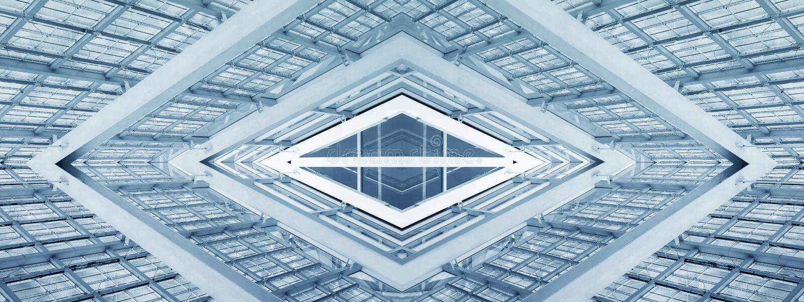 Abstract Architecture Modern Building mirror reflection futuristic Background royalty free stock photo