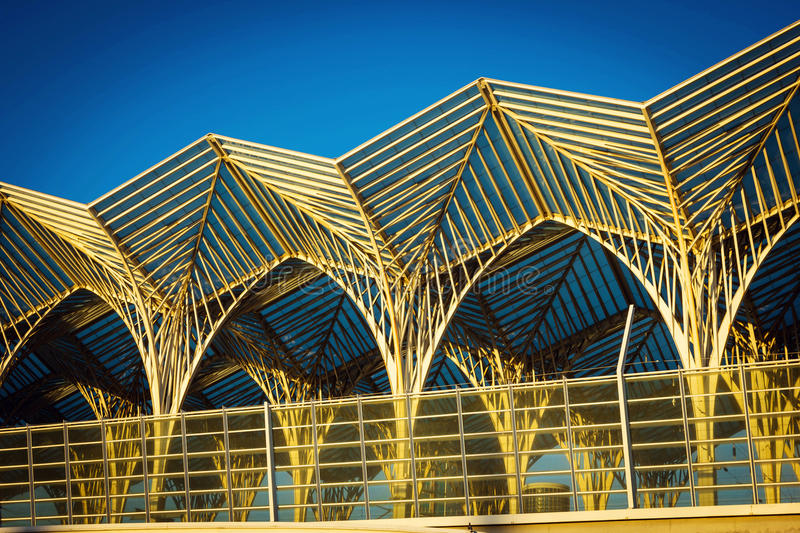 Download Abstract Architecture Of Oriente Station In Lisbon Stock Photo - Image: 83723773