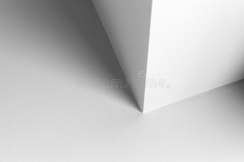Abstract architecture, white interior design. With corner and soft shadows, black and white background photo stock photos
