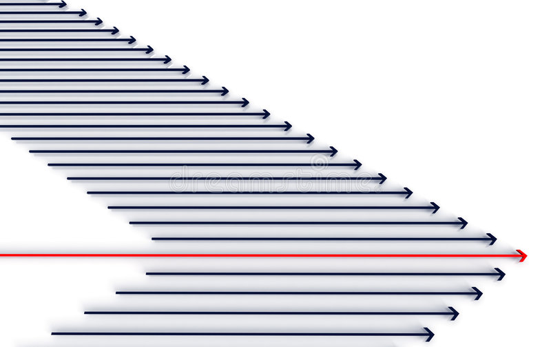 abstract arrow race иллюстрация вектора