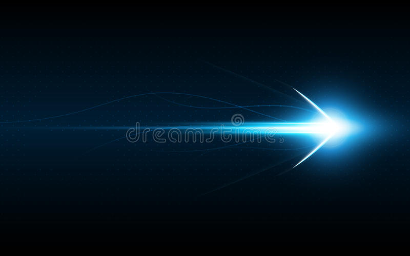 Abstract arrow symbol forward speed technology innovation concept royalty free illustration