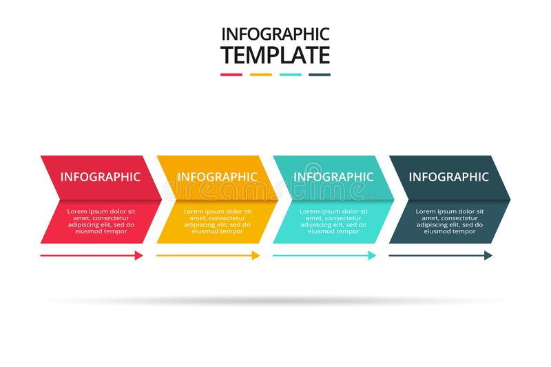 Abstract arrows of graph, diagram with 3 steps, options, parts or processes. Vector business template for presentation. Business data visualization. Process vector illustration