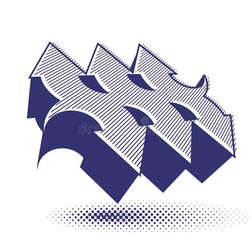 Abstract Arrows Vector Symbol, Vector Graphic Design Template, V Stock Vector