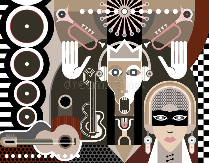 Abstract Art royalty free illustration