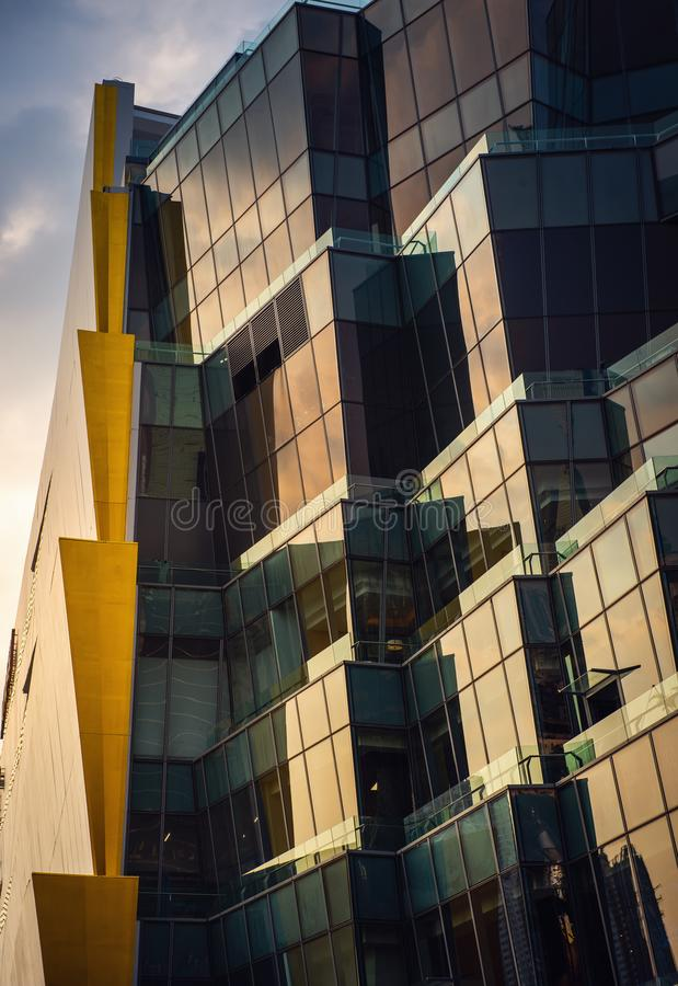 Abstract Art of Architecture Facade Modern Building, Structure of Skyscraper and Exterior Decorative royalty free stock photo