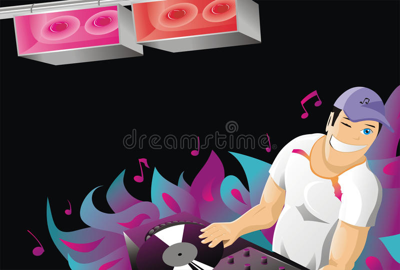 Abstract art background banner bass. Beauty celebration club clubbing dance stock illustration