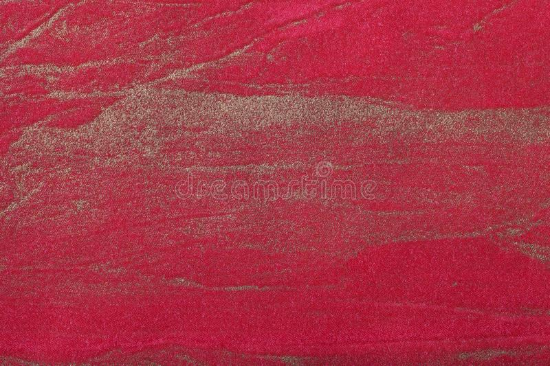 Abstract art background dark red with golden color. Multicolor painting on canvas. Fragment of artwork. Texture backdrop. Decorative wine wallpaper stock photography