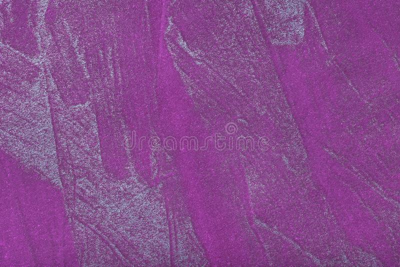 Abstract art background dark violet with silver color. Multicolor painting on canvas. Fragment of artwork. Texture backdrop. Decorative purple wallpaper stock photo