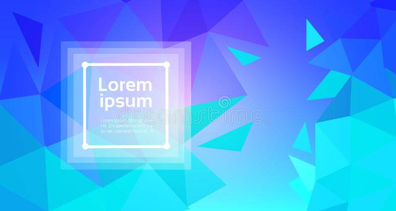 Abstract Art Background With Modern Geometric Elements. Polygonal Triangulars Template Banner With Copy Space Vector Illustration royalty free illustration