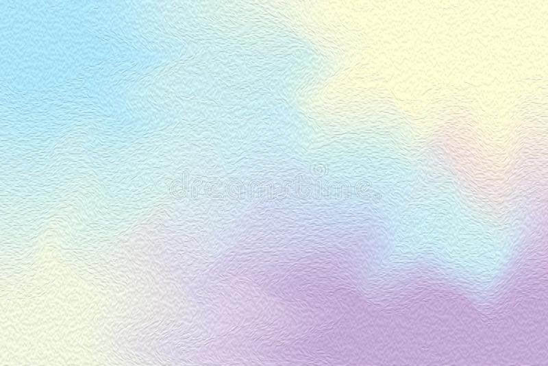 Abstract art blue colorful bright paint brush on paper texture background, multi colorful painting art acrylic water color pastel vector illustration