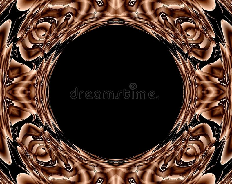 Abstract art: Caramel Colored Space Portal stock illustration
