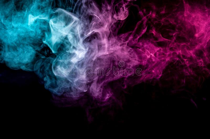 Abstract art colored smoke royalty free stock photo