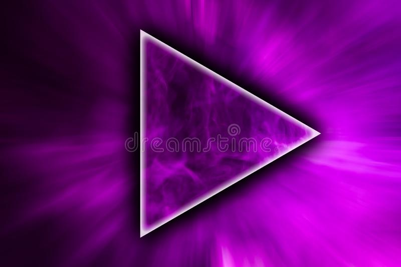 Abstract art colored smoke in the shape of a triangle stock photos