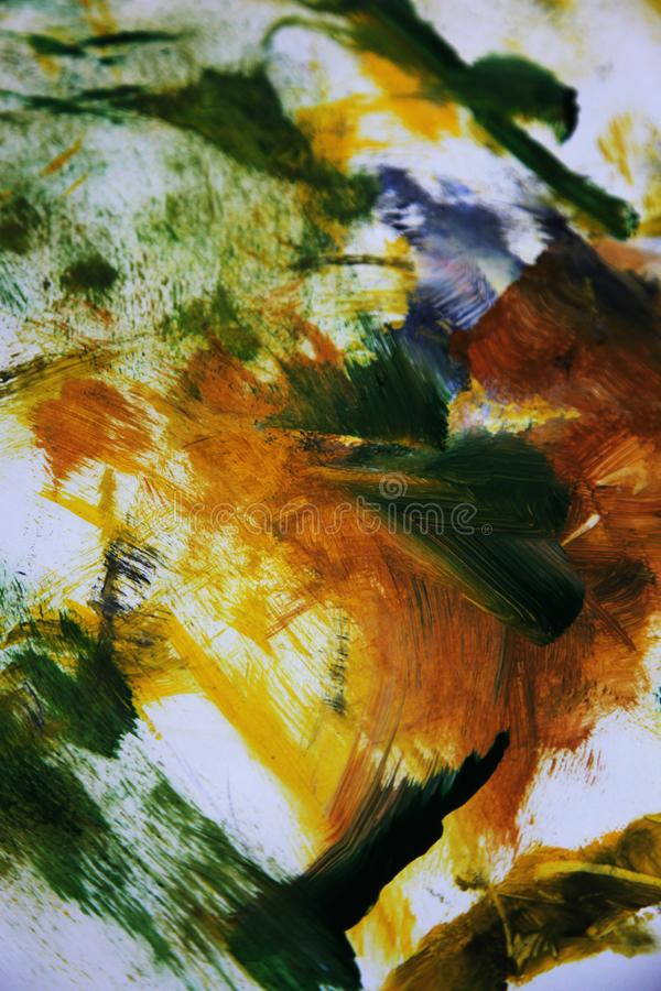 Abstract art in yellow orange and green royalty free stock image