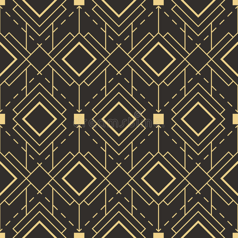 Download Abstract Art Deco Seamless Pattern Stock Vector - Illustration of simple, graphic: 94485613