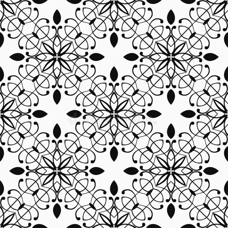 Vintage Art Deco Pattern. Abstract Art Deco Tiles Seamless Vector Pattern. Geometric texture. Repeating background royalty free stock photo