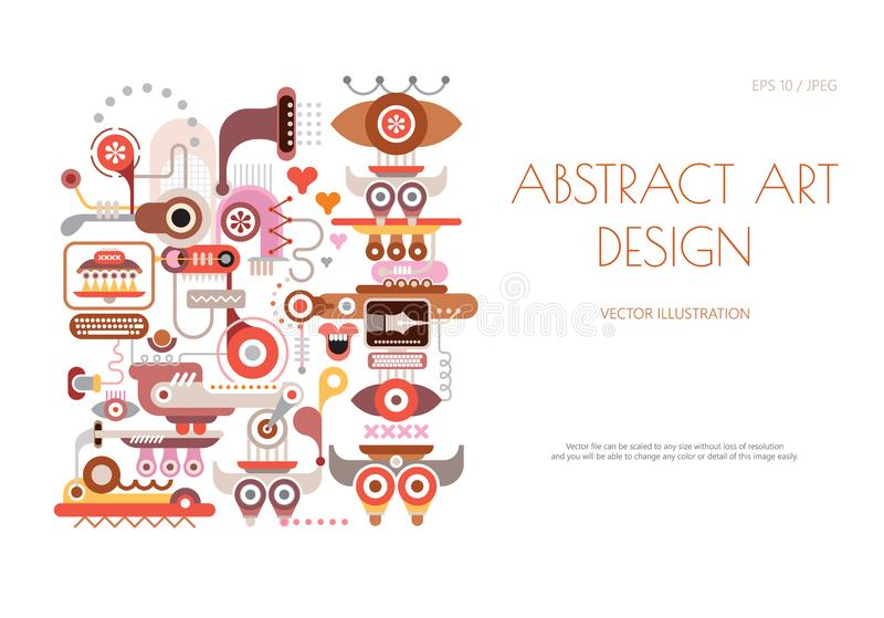 Abstract art design on a white stock illustration