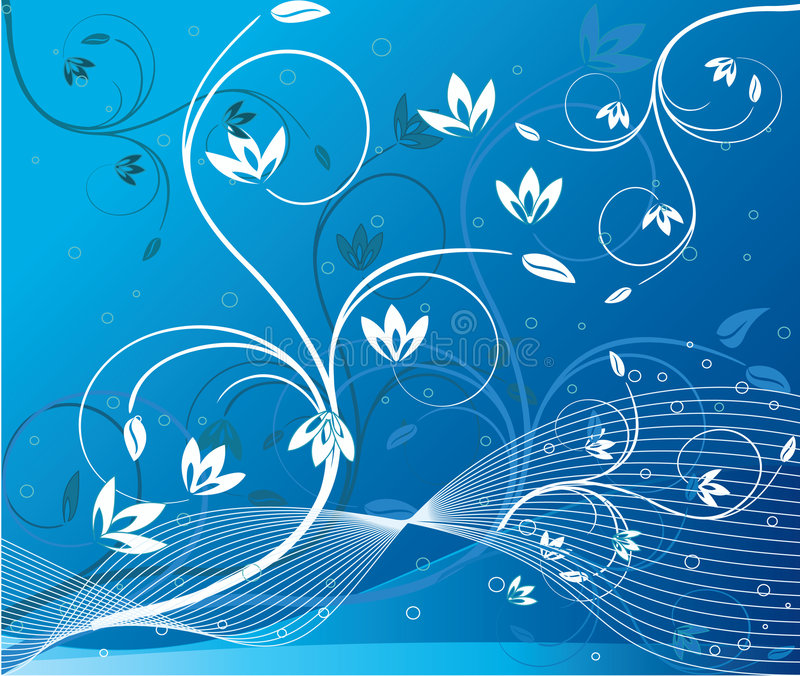 Abstract art floral vector vector illustration