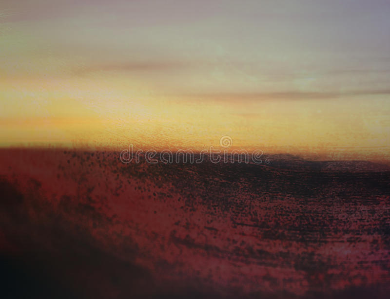 Abstract art grunge landscape background royalty free stock photo
