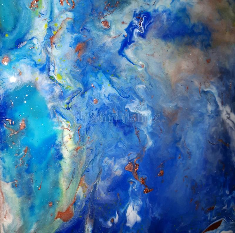 Abstract art. Ocean inspired abstract art stock images