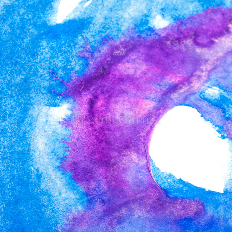 Abstract art oil color. Blue, purple vector illustration