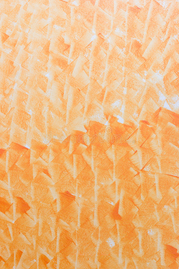 Orange Cement Wall : Abstract art orange color paint in cement wall stock