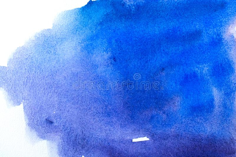 Abstract art paint. Blue abstract watercolor macro texture background stock photo
