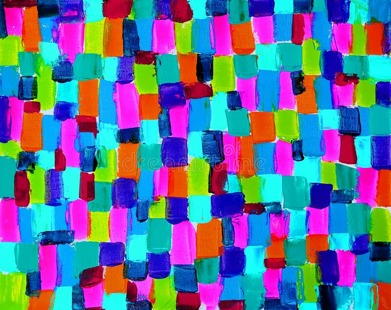Abstract art painting background with bright colors royalty free stock image