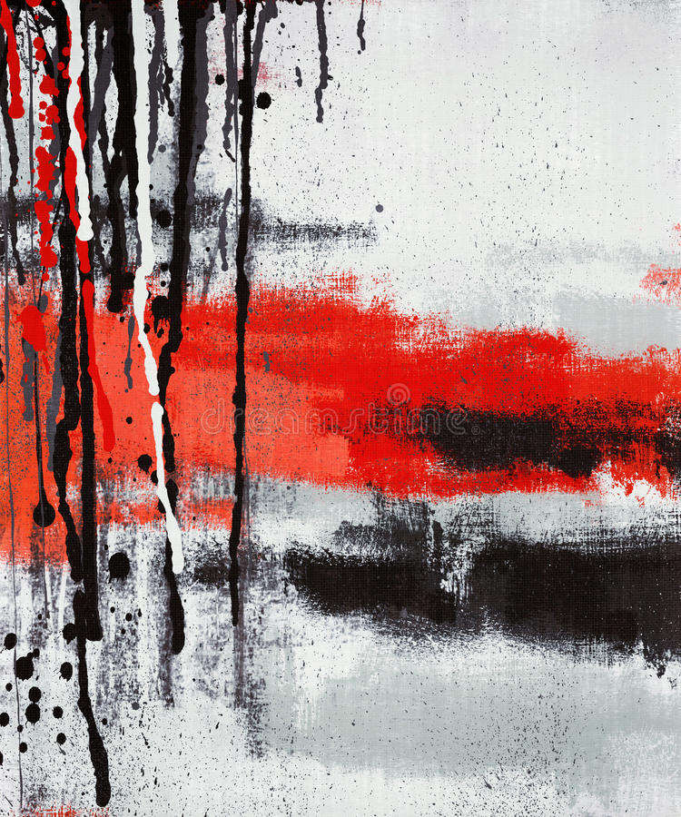 Abstract art painting dripping. Vertical abstract art oil painting on canvas royalty free stock photo