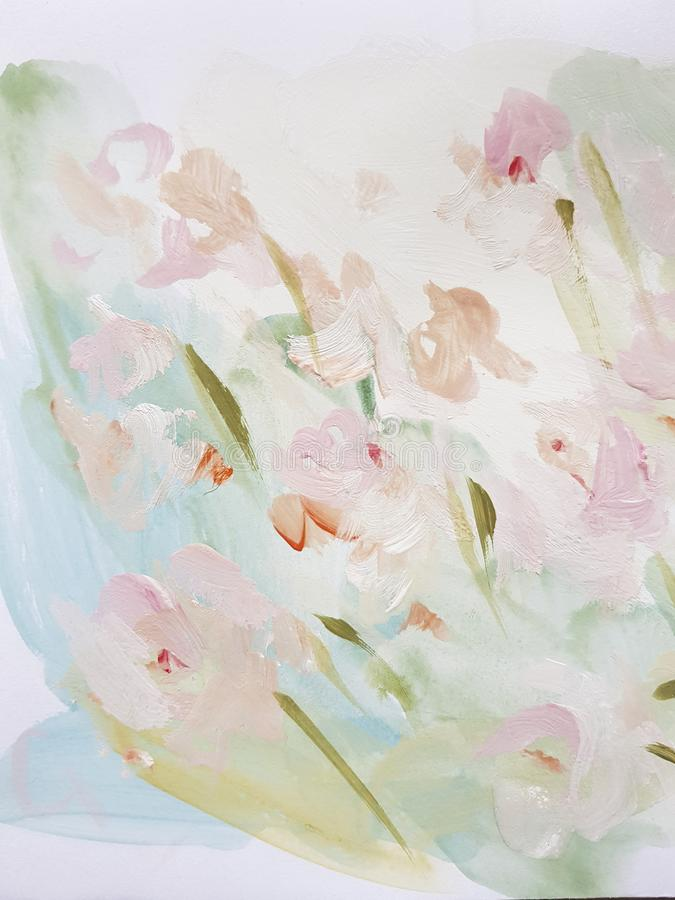 Free Abstract Art Painting Flower Background Royalty Free Stock Image - 153074356