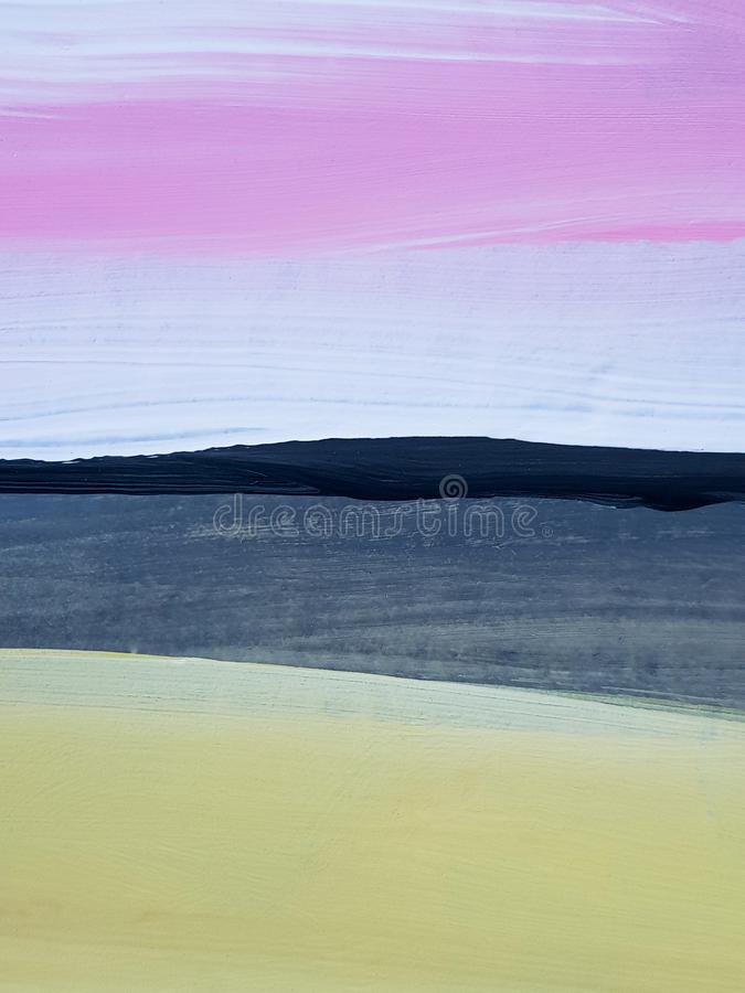 Abstract Landscape Art Painting Background. Modern art. royalty free stock photography