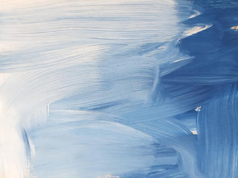 Abstract Blue Art Painting Background. stock images