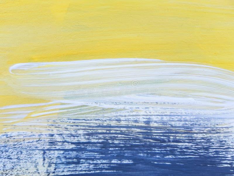 Abstract Landscape Art Painting Background. Modern art. stock illustration