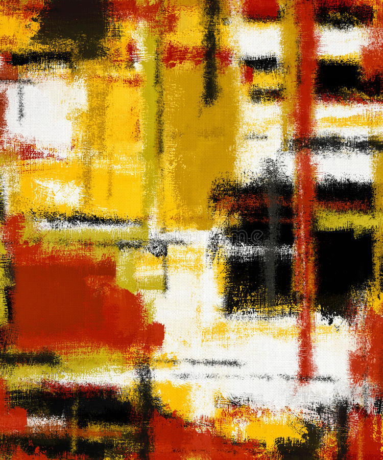 Abstract art painting. Vertical abstract art oil painting on canvas royalty free stock photography