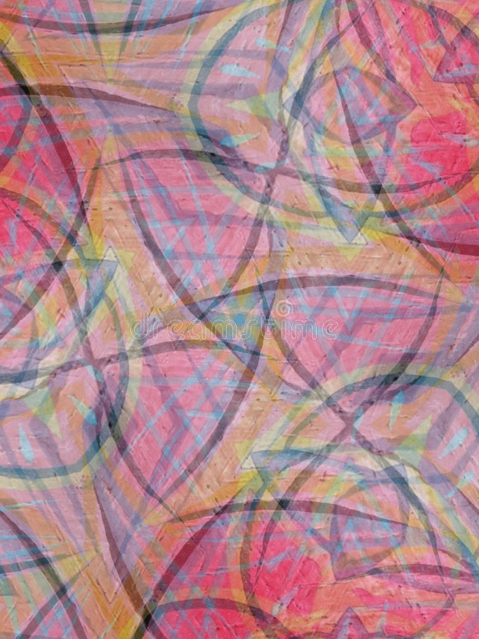 Abstract Art Pink Backgrounds. An abstract texture pattern background of oil pastel colors in a collage with stripes and lines royalty free stock photography