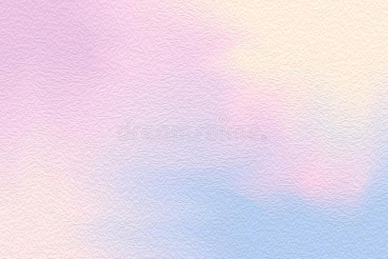 Abstract art pink colorful bright paint brush on paper texture background, multi colorful painting art acrylic water color pastel royalty free illustration