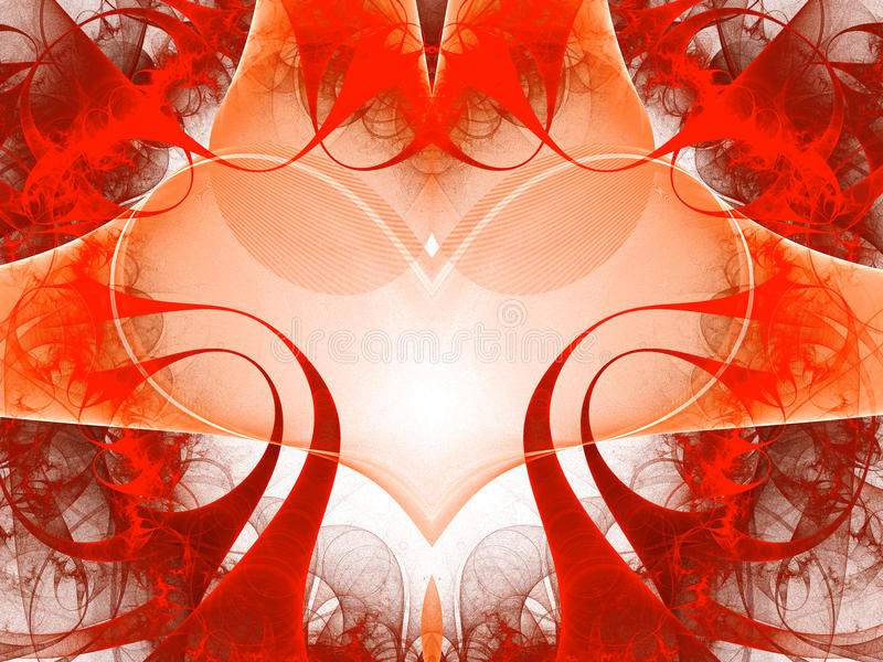 Abstract art red heart. stock photography