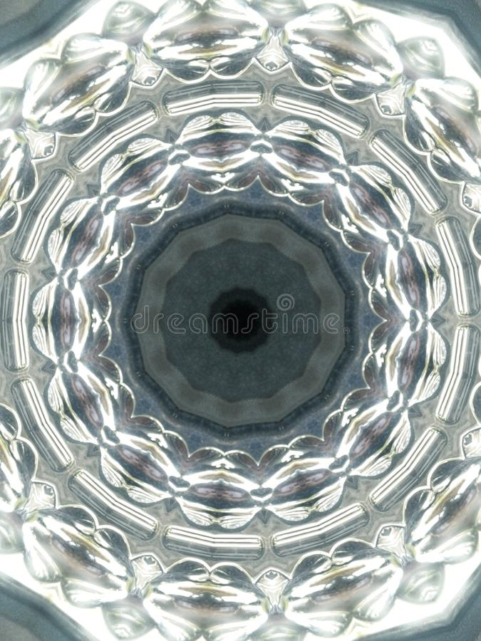 Abstract art in repetitive circles stock photography