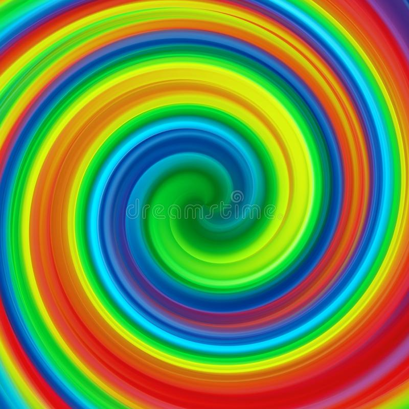 Abstract art swirl rainbow colorful paint background stock illustration