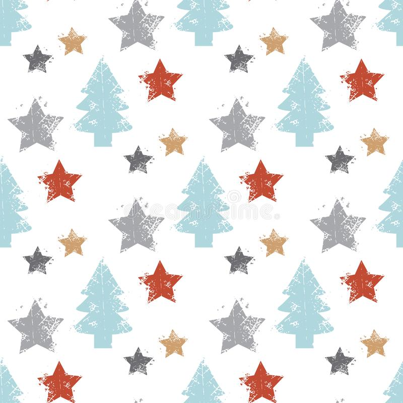Abstract art vector background. Christmas tree seamless pattern royalty free illustration
