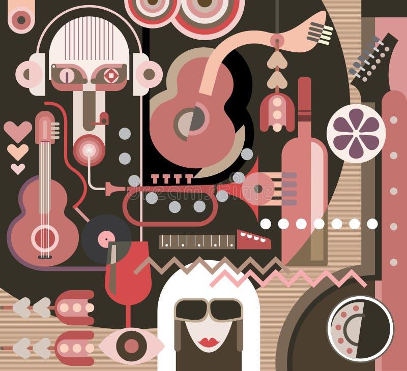 Abstract Art stock illustration