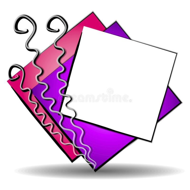Abstract Art Web Site Logo 2. An abstract web site logo illustration featuring colorful casually positioned squares and unique lines vector illustration