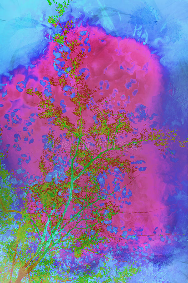 Abstract artistic background. In bright colours stock photo