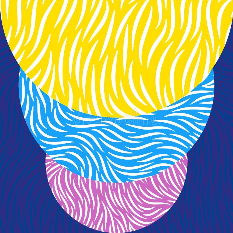 Abstract vortex background vector illustration